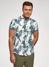Рубашка принтованная с коротким рукавом oodji #SECTION_NAME# (белый), 5L301004M/46547N/1079F - вид 2