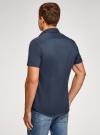 Рубашка базовая с коротким рукавом oodji для мужчины (синий), 3B240000M/34146N/7900N - вид 3