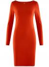 Платье трикотажное облегающего силуэта oodji #SECTION_NAME# (красный), 14001183B/46148/4500N