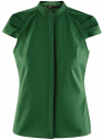 Рубашка с коротким рукавом из хлопка oodji #SECTION_NAME# (зеленый), 11403196-3/26357/6E00N