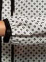 Блузка прямого силуэта с завязками oodji #SECTION_NAME# (белый), 11401267/42405/1229G - вид 5