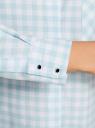 Рубашка свободного силуэта с регулировкой длины рукава oodji #SECTION_NAME# (синий), 11411099-1/43566/7010C - вид 5