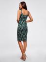 Платье-майка трикотажное oodji #SECTION_NAME# (зеленый), 14015007-3B/37809/6912E - вид 3