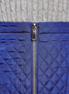 Юбка из фактурной ткани с молнией спереди oodji #SECTION_NAME# (синий), 11600410/38325/7501N - вид 4