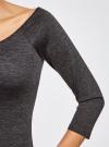 Платье облегающее с вырезом-лодочкой oodji #SECTION_NAME# (серый), 14017001/42376/2500M - вид 5