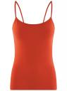 Топ трикотажный на тонких бретелях oodji для женщины (оранжевый), 14305023-1B/46147/4500N