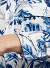 Блузка вискозная с нагрудными карманами oodji #SECTION_NAME# (слоновая кость), 21411115/46436/3079F - вид 5