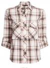 Рубашка в клетку с нагрудными карманами oodji #SECTION_NAME# (белый), 11411052-2/45624/7912C