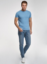 Джинсы slim со средней посадкой oodji для мужчины (синий), 6L160005M/45068/7400W