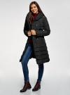 Пальто стеганое с объемным воротником oodji #SECTION_NAME# (черный), 10204049-1B/24771/2900N - вид 6