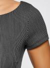 Платье трикотажное с принтом oodji для женщины (черный), 14001117-4/16564/2910S - вид 5