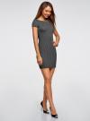 Платье трикотажное с принтом oodji для женщины (черный), 14001117-4/16564/2910S - вид 6