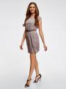 Платье принтованное из вискозы oodji #SECTION_NAME# (розовый), 11910073/26346/4B29E - вид 6