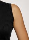 Водолазка в рубчик без рукавов oodji для женщины (черный), 15E11027/46412/2900N