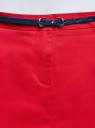 Юбка хлопковая с ремнем oodji #SECTION_NAME# (красный), 11600397-2B/32887/4501N - вид 4