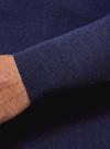 Свитер базовый из хлопка oodji для мужчины (синий), 4B312003M-1/34390N/7900M - вид 5