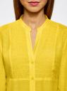 Туника с V-образным вырезом oodji для женщины (желтый), 21412068-2/19984/5200N