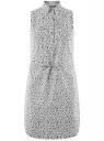 Платье хлопковое на кулиске oodji #SECTION_NAME# (белый), 11901147-5B/42468/3029F