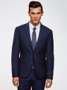 Пиджак приталенный с декоративной отделкой oodji #SECTION_NAME# (синий), 2L420211M/47308N/7975O - вид 2
