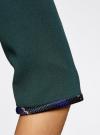 Жакет-болеро с контрастной отделкой oodji для женщины (зеленый), 22A00002/31291/6C00N - вид 5