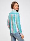 Блузка клетчатая прямого силуэта oodji для женщины (разноцветный), 11411131/46090/4165C - вид 3