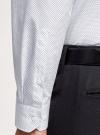 Рубашка базовая из хлопка oodji для мужчины (белый), 3B110016M-1/44425N/1075D - вид 5