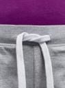 Шорты базовые трикотажные oodji для женщины (серый), 17001029-4B/46155/2001M