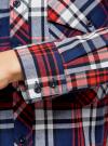 Рубашка хлопковая с нагрудными карманами oodji #SECTION_NAME# (синий), 11411052-1B/42850/7945C - вид 5