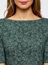 Платье облегающее с вырезом-лодочкой oodji #SECTION_NAME# (зеленый), 24008310-3/47255/6C10E - вид 4