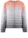 Куртка стеганая с круглым вырезом oodji #SECTION_NAME# (разноцветный), 10204040-1B/42257/4575T