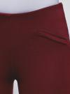 Брюки облегающие с декоративными карманами oodji #SECTION_NAME# (красный), 28600036/43127/4900N - вид 4