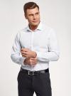 Рубашка базовая из хлопка oodji для мужчины (белый), 3B110016M-1/44425N/1075D - вид 2