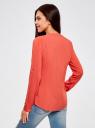 Блузка вискозная прямого силуэта oodji #SECTION_NAME# (красный), 21400394-1B/24681/4300N - вид 3