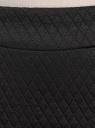 Юбка-карандаш стеганая oodji для женщины (черный), 24101036-2/42408/2900N