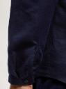 Рубашка прямого силуэта изо льна oodji для мужчины (синий), 3B320002M-1/49987N/7800N