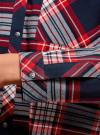 Рубашка в клетку с нагрудным карманом oodji #SECTION_NAME# (синий), 13L11013-1/48490/7912C - вид 5