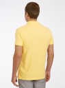 Поло из ткани пике oodji #SECTION_NAME# (желтый), 5B422001M/44032N/5200N - вид 3