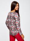 Блузка из шифона принтованная oodji #SECTION_NAME# (разноцветный), 11411056M/33109/1229G - вид 3