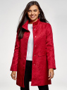 Пальто прямого силуэта из фактурной ткани oodji #SECTION_NAME# (красный), 10104043/43312/4500N - вид 2
