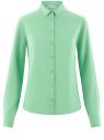 Блузка базовая из вискозы oodji #SECTION_NAME# (зеленый), 11411136B/26346/6500N