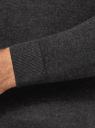 Свитер базовый из вискозы oodji для мужчины (серый), 4B312003M-3/50037N/2501M