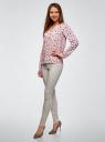 Блузка принтованная из вискозы oodji для женщины (розовый), 11411049-1/42127/4019A