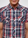Рубашка клетчатая с нагрудными карманами oodji #SECTION_NAME# (разноцветный), 3L410118M/34319N/7541C - вид 4