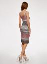 Платье-майка трикотажное oodji #SECTION_NAME# (разноцветный), 14015007-3B/37809/4129E - вид 3