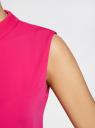 Блузка базовая без рукавов с воротником oodji #SECTION_NAME# (розовый), 11411084B/43414/4700N - вид 5
