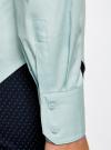 Рубашка базовая из хлопка oodji #SECTION_NAME# (синий), 11403227B/14885/7000N - вид 5
