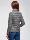 Куртка с трикотажными манжетами и воротником-стойкой oodji #SECTION_NAME# (серый), 10204056/47172/2500N - вид 3