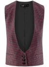 Жилет классический с декоративными карманами oodji #SECTION_NAME# (красный), 12300102/22124/7943C