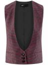 Жилет классический с декоративными карманами oodji для женщины (красный), 12300102/22124/7943C