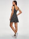 Платье на бретелях с расклешенным низом oodji для женщины (черный), 14015021-2/48436/2910G